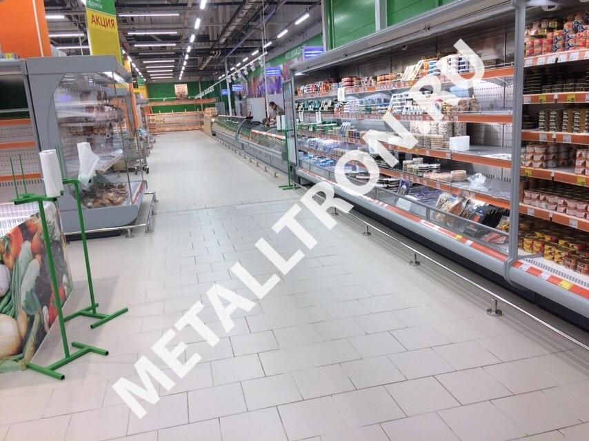 Ограждения из нержавеющей стали для магазина