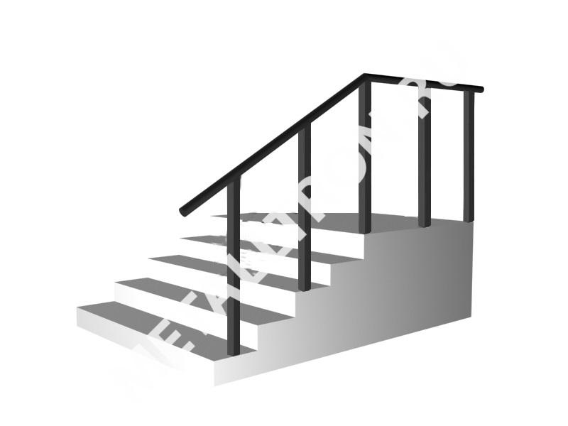 Лестничные ограждения без ригелей