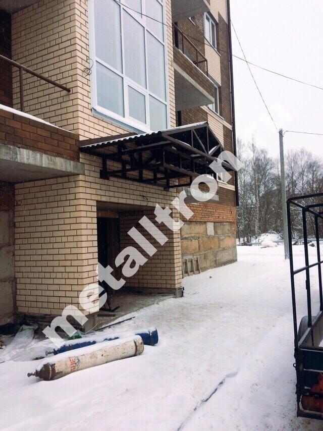 Металлоконструкции из черного металла для многоквартирного дома
