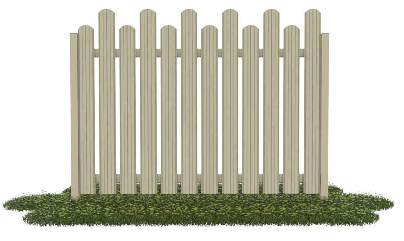 Забор из евроштакетника (лесенка)