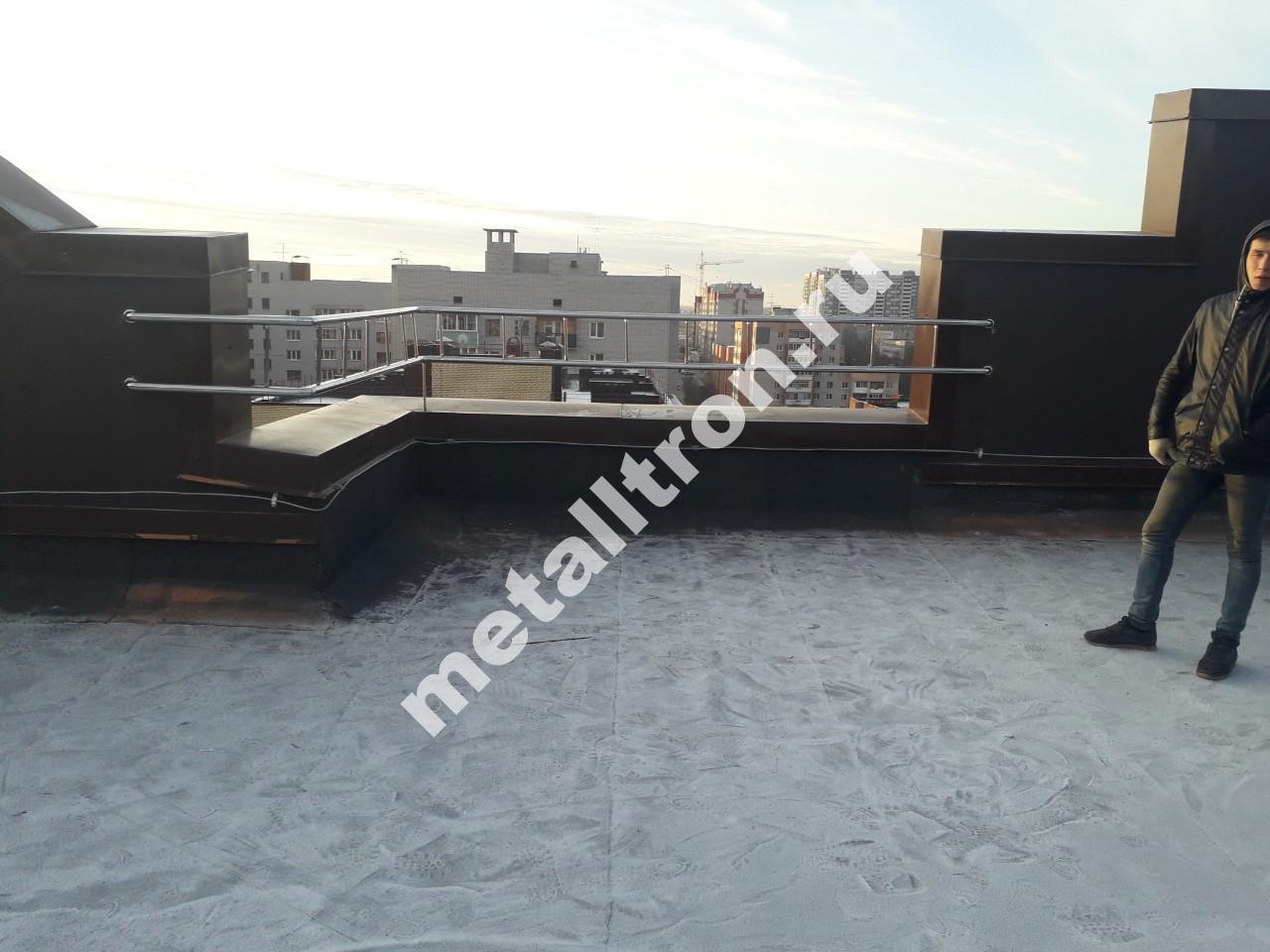 Ограждение парапета из нержавеющей стали для многоквартирного дома